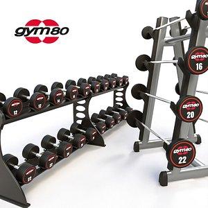 3D Dumbbell Rack GYM80