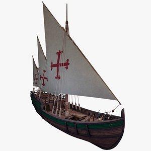 3D Caravel model