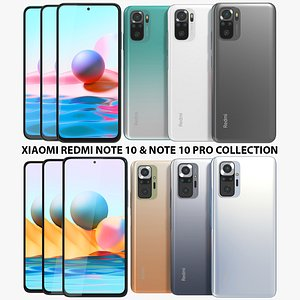3D Xiaomi Redmi Note 10 and Note 10 Pro Collection model