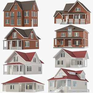 3D Houses Collection 01 model