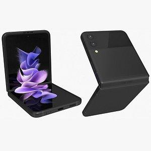 Samsung Galaxy Z Flip 3 Black Animated 3D model