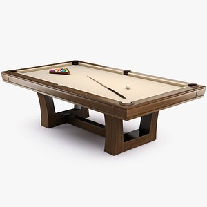 3D Pool Table 8ft Modern style City