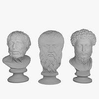 Greek and Roman Philosophers Collection Plato Seneca and Marcus Aurelius