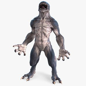monster creature standing pose 3D model