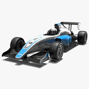 3D Tatuus PM-18 Race Car model