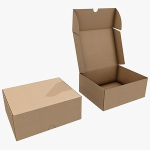 3D Cardboard Box 6 with Pbr 4K 8K model