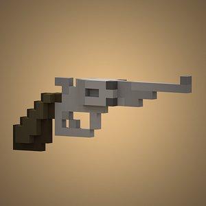 Voxel Revolver 3D model