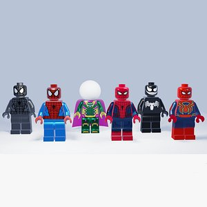 3D Lego Spiderman collection heroes and villains