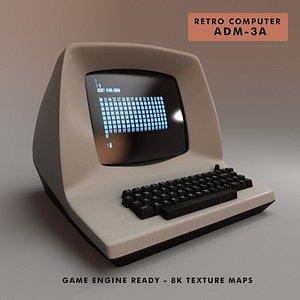 retro computer adm-3a 3D model