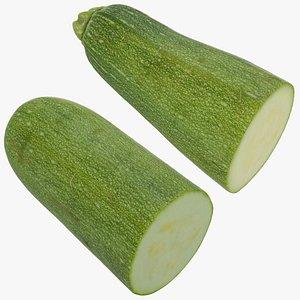 zucchini half set 3D model