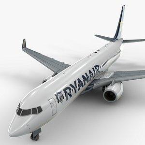 boeing 737-8 ryanair l1323 3D model
