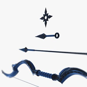 cgi ninja weapons set 3D model
