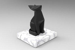 fox sculpture model