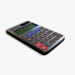 pocket calculator 3D