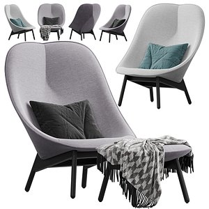 3D HAY Uchiwa Lounge chair