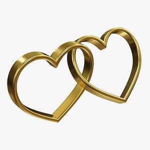 wedding ring heart 3D model