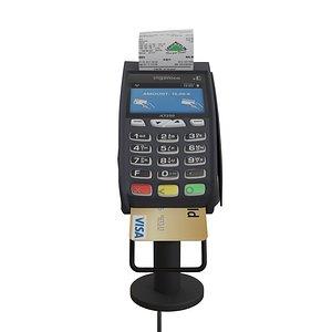 3D Card Reader Supermarket POS