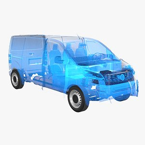 Hydrogen Fuel Cell Van Chassis  X-Ray model