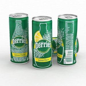 3D model Beverage Can Water Perrier Lemon 250ml 2021