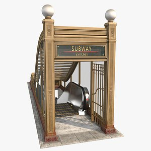 3D chicago subway entrance model