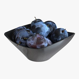 plum plate 3D