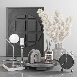 decorative set with pampas 4 model
