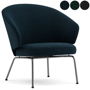 lounge chair fritz hansen 3D model