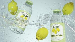 Splash Lemon Animated 3D model