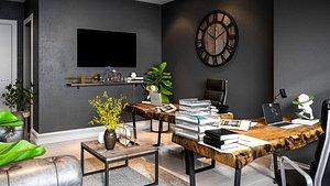 room interior office 3D model