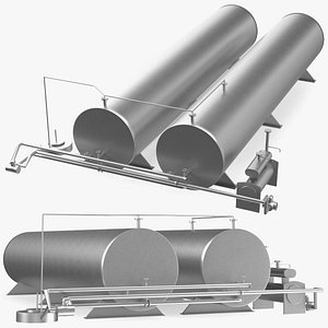 Horizontal Bitumen Storage Tank 3D model