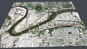 Cityscape  Kansas City Missouri USA 3D model