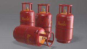 3D Gas Cylinder model
