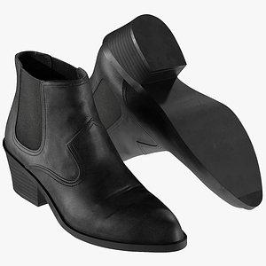 3D realistic women s shoes