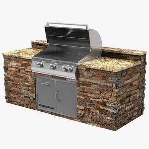 3D firemagic built outdoor grill