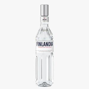 3D finlandia original vodka model