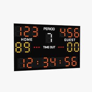 scoreboard u-render 3D model
