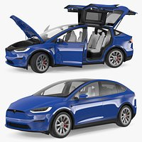 Tesla Model X Plaid Rigged