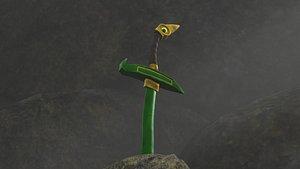 3D model Green Sword