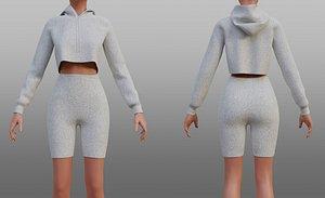 hoodie shorts 3D