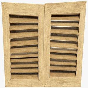 stylized shutters window 3D