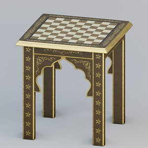 Moroccan chess table 3D