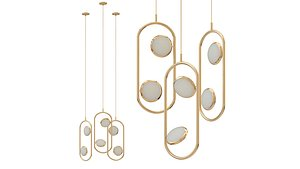 3D chandelier hoop led model