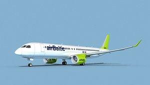 Airbus A220-300 Air Baltic 3D model