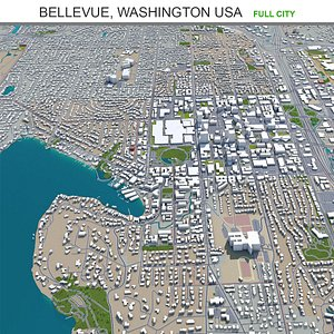 3D model Bellevue Washington USA
