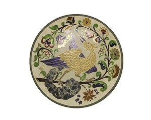 traditional plate 2 -bird 3D model