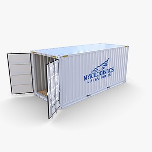 3D 20ft Shipping Container NYK Logistics v2 model