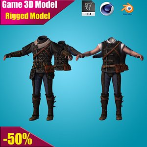 3D ready animate phantasy model