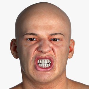 Real PBR Marcus Human Head Lip Funneler AU22 3D model