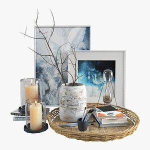 3D Decorative set with branches