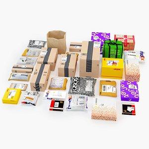 Parcels Collection 3D model